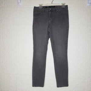 Nine West Gray Cigarette Fit Skinny Leg Jeans Sz 6